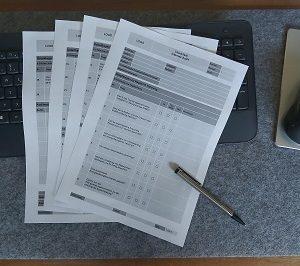 Checkliste Internes Audit, Audit-Checkliste