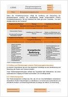 Vorlage Verfahrensanweisung Energieplanungsprozess