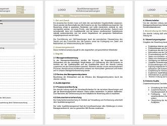 Vorlage Verfahrensanweisung Managementbewertung